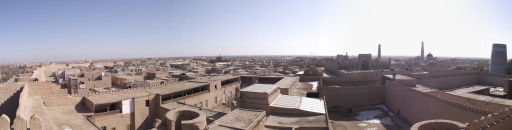 Khiva_Узбекистан_panorama