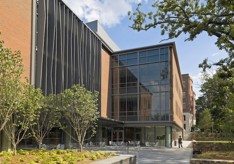 Fedex Global Education Center, Location: Chapel Hill NC, Architect: Leers Winezaphel. Academic Building including classrooms, offices, conference rooms and auditorium.